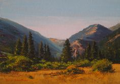 SOLD I Rocky Mountain Gold I 5x7 I Dix Baines I Fine Artist Original Oil Paintings I Mountains I www.dixbaines.com