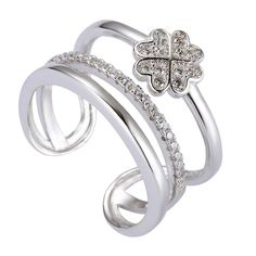 Fieryat Sterling Silver Rings Cubic Zirconia