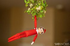 Cute as he may be, your Elf on the Shelf is capable of all kinds of mischief and liable to find hiding spots in the most bizarre, creative and funny places. Read on to see 36 of the best spots little Elf on the Shelf has been found in. Christmas Is Over, All Things Christmas, Christmas Holidays, Happy Holidays, Christmas Ideas, Christmas Decorations, A Shelf, Shelves, Mensch On A Bench