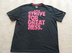 "NEW Nike LeBron James; Strive for Greatness"" Shirt Black/Red 507545-011 XL"
