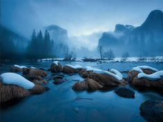 Merced River, Yosemite  Photograph by Michael Melford  Merced River, Yosemite National Park, California  114.5 miles protected since 1987; 8 additional miles since 1992