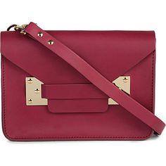 SOPHIE HULME Mini matt leather shoulder bag