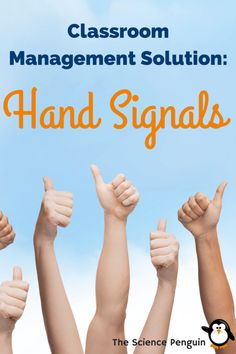 Classroom Management Solution: Hand Signals. Just a Bonus pin unrelated to motivation- great solution for the elementary classroom!