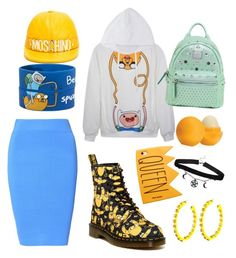 """""""Finn&Jack😆🐶"""" by chiara-calcagno ❤ liked on Polyvore featuring Dr. Martens, Glamorous, Moschino, MCM, Eos and Amrita Singh"""