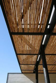 Image result for pipe and bamboo pergola