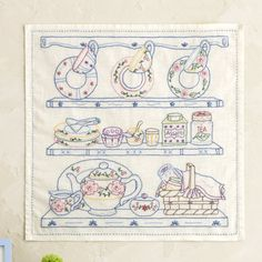 Buch Design, Tea Design, Cross Stitching, Cross Stitch Embroidery, Hand Embroidery, Needlepoint Patterns, Embroidery Patterns, Creative Embroidery, Mini Quilts