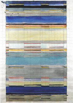 Gunta Stölzl - Bauhaus Master; Design for a double-weave 1928 33x20 cm Private collection