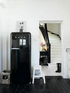 Cocinas en blanco y negro. Una tendencia en decoración  #deco #decoracion #blanco #negro #cocina