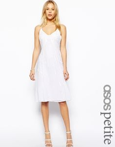 ASOS PETITE Exclusive Premium Embellished Cami Dress http://www.asos.com/Asos-Petite/Asos-Petite-Exclusive-Premium-Embellished-Cami-Dress/Prod/pgeproduct.aspx?iid=3747924&cid=2623&sh=0&pge=0&pgesize=204&sort=-1&clr=White