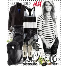 H&M- Black and white!, created by jayy-nna