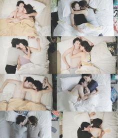 cute sleeping posture of couples