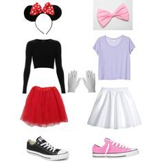 Minnie Mouse and Daisy Duck by ajiawilliams on Polyvore featuring Monki, Topshop, H&M, Converse, Cotton Candy, Disney and Rothco