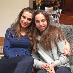 ♔♛Queen Rania of Jordan♔♛. May 22, 2015, Queen Rania with her daughter.