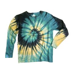 Ladies Long Sleeve Tie Dye Shirt Womens T Shirt Earthy Spiral Eco-friendly Dyeing Women Long Sleeve Shirts Ideas of Women Long Sleeve Shirts - Men Long Sleeve Shirts - Ideas of Men Long Sleeve Shirts Tye Dye, Designs Tie Dye, Diy Tie Dye Shirts, Diy Shirt, Tie Dye Outfits, Teen Outfits, Tomboy Outfits, Spring Outfits, Tie Dye Crafts