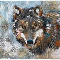 Wolf - Fur, Texture & Iridescents by Sharlena Wood