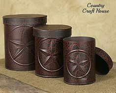 pinterest the world s catalog of ideas 3 americana barn star canister set crackled burgundy black