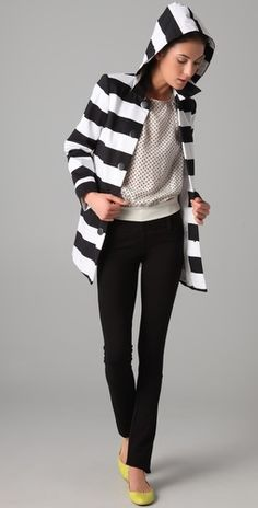 Great black skinny pant with a wide waistband.