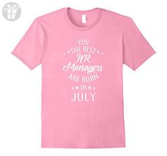 Mens Birthday Born In July HR Managers Funny Shirts Gifts 5 color Large Pink - Birthday shirts (*Amazon Partner-Link)