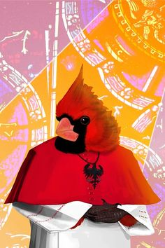 """the Cardinal"" Art Prints by billythekidtees | Redbubble"