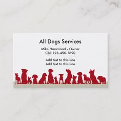 Shop Dog Theme Busines Cards created by Luckyturtle. Dog Walking Flyer, Dog Grooming Business, Text Layout, Bee Theme, Pet Store, Dog Design, Halloween Themes, Store Design, Business Card Design