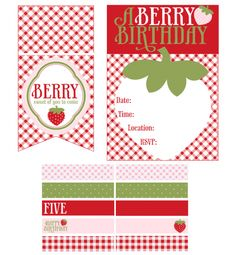 Strawberry Party :: free printable