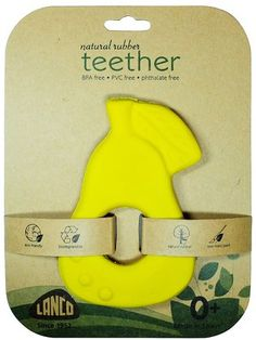 Lanco Toys Natural Rubber Teether Apple - Free Shipping, $13.99