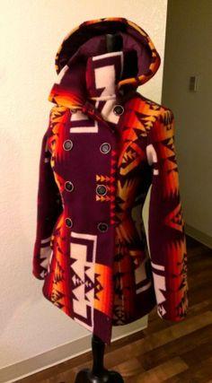 Shayne R. Watson Designs Maroon Pendleton Jacket......yeessssss