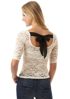 dELiAs > Lace Back Tie Long-Sleeve Tee > just in > shop by category > tops