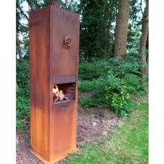 Corten steel borr burner