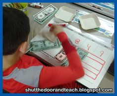 Shut the Door and Teach: Making Long Division Interactive (and Dare I Say Fun! Long Division Activities, Teaching Long Division, Math Division, Math Activities, Math In Focus, Singapore Math, Math Graphic Organizers, 4th Grade Math, Math Class