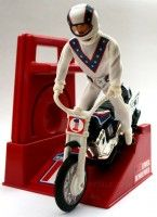 Vintage Evel Knievel stunt bike action-figure and crank-assisted people-powered motorcycle toy 1970s Childhood, My Childhood Memories, Childhood Toys, Sweet Memories, 1970s Toys, Retro Toys, Vintage Toys 1970s, Vintage Items, Gi Joe