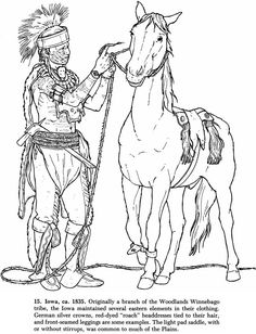coloring pages native american dover publ horse coloring page of a native american winnebago