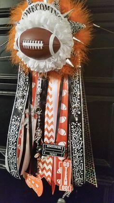 Almost finished. My Boyfriends Garter #homecoming #garter #orange #black #white…
