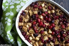 cranberry apple cinnamon baked oatmeal - Jelly Toast