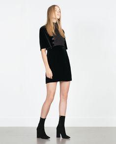 VELVET DRESS - View all - Dresses - WOMAN | ZARA United States