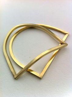 Brass Bangle Bracelets Handmade Jewelry Hand forged Unisex Jewelry Sets. $110.00, via Etsy.