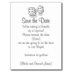 Las Vegas Save the Date Post Cards
