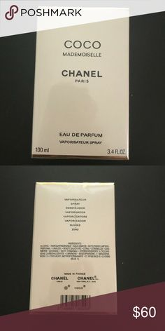 Coco mademoiselle 3.4oz Great deal   100% authentic(barcode in pics)  Sealed with factory wrap  Same day shipping  Bundle for cheaper prices CHANEL Other