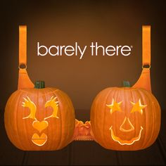 Happy Halloween! Design Your Own Barely There Pumpkin Bra! #BTPumpkinBra