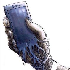#brain hacking #the interwine of the mobile & human anatomy #Precautionary Image
