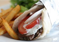 The Domestic Notebook: Homemade Greek Gyros with Tzatziki Sauce
