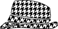 Houndstooth Hat Decal by MontgomeryHomeDesign on Etsy