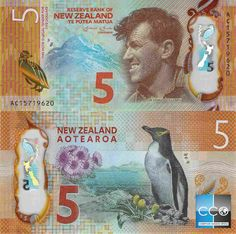Roberts World Money. Sellers of Quality World Banknotes. Money Notes, Dollar, Reptiles And Amphibians, Coin Collecting, Paper Design, New Zealand, Banknote, Pop Art, Vintage World Maps