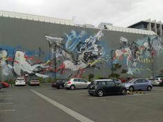 Christchurch street art Stand Tall, Street Art, Painting, Painting Art, Paintings, Painted Canvas, Drawings