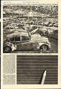 Moonlizard The Diastrous Jaguar Factory Fire At Coventry 1957 Original  Print 1622: Amazon.