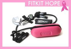 FitKit HOPE - 25% of proceeds got toward breast cancer research   As part of the FitKit Collection, FitKitHOPE is a complete fitness solution with 250+ exercises and all the tools for a total body workout. FitKit HOPE was developed to support the fight against breast cancer, and emphasizes the importance of fitness and nutrition in breast cancer prevention and re-occurrence.