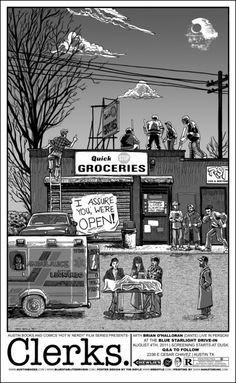 Clerks by Tim Doyle. I'm a bit in love with this movie poster.