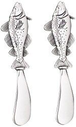 Spreaders With Fish Design - North Breeze Cheese Spreaders, Fish Design, Breeze, Stuff To Buy, Flatware, Coastal, Tools, Free Shipping, Amazon
