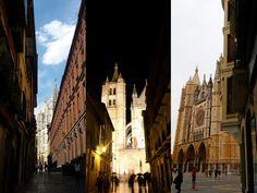 Llegando a la catedral de León, 3 vistas... #catedraldeleon #leonesp #spain