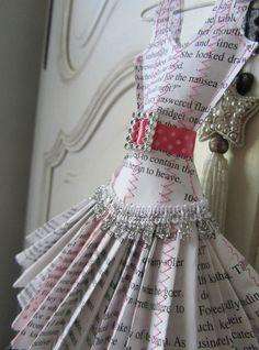 Papier Boudoir Boutique paper dress by lilliputloft on Etsy